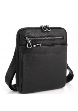 Фото Черная мужская кожаная сумка-мессенджер Tavinchi S-008A