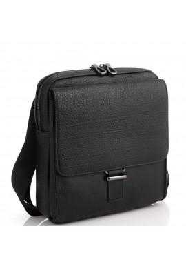 Фото Черная кожаная сумка мужская Tavinchi S-002A