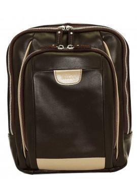 Фото Модный рюкзак мужской Vatto из коричневой гладкой кожи