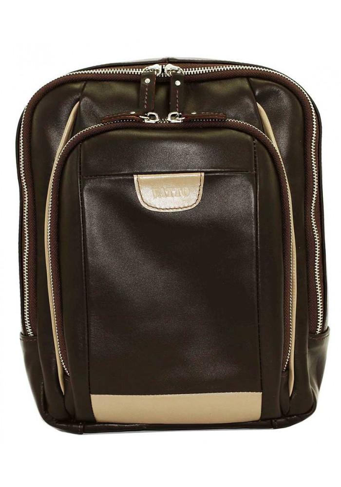 Модный рюкзак мужской Vatto из коричневой гладкой кожи