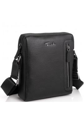 Фото Кожаная сумка через плечо в черном цвете Tavinchi TV-S007A