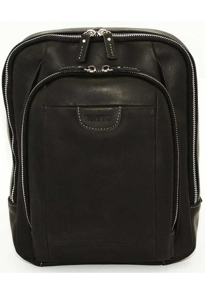 Модный рюкзак мужской Vatto черный матовый