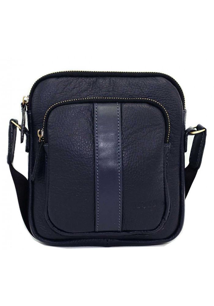 Брендовая сумка для мужчины кожаная Vatto синяя