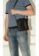 Брендовая сумка для мужчины кожаная Vatto черная, фото №8 - интернет магазин stunner.com.ua