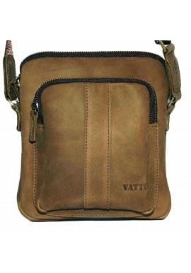 Фото Брендовая сумка для мужчины кожаная Vatto песочная