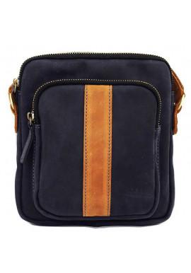 Фото Брендовая сумка для мужчины кожаная Vatto синяя матовая