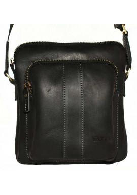 Фото Брендовая сумка для мужчины кожаная Vatto черная матовая