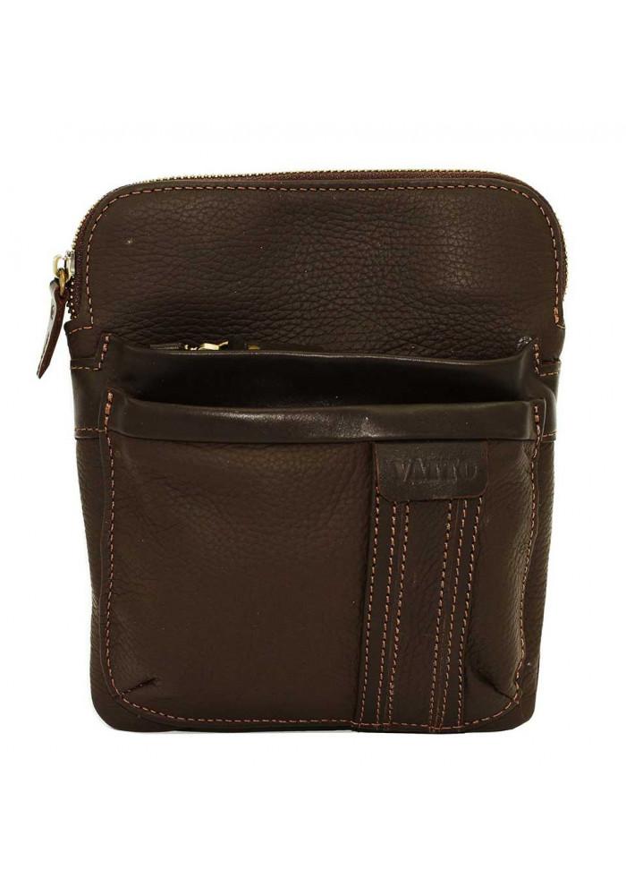 Брендовая сумка-планшет для мужчины Vatto коричневая