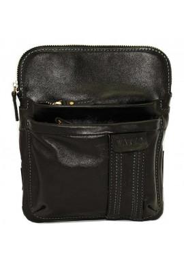 Фото Брендовая сумка-планшет для мужчины Vatto черная гладкая