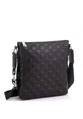 Фото Мужская сумка через плечо черная фактурная Tiding Bag A25-6106A