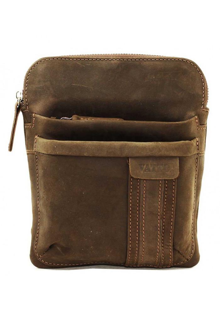 Брендовая сумка-планшет для мужчины Vatto коричневая матовая