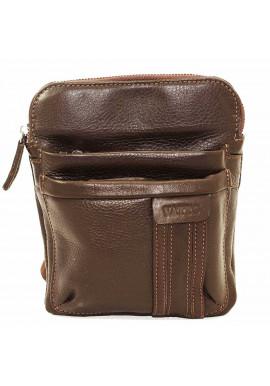 Фото Брендовая сумка-планшет для мужчины Vatto коричневая гладкая