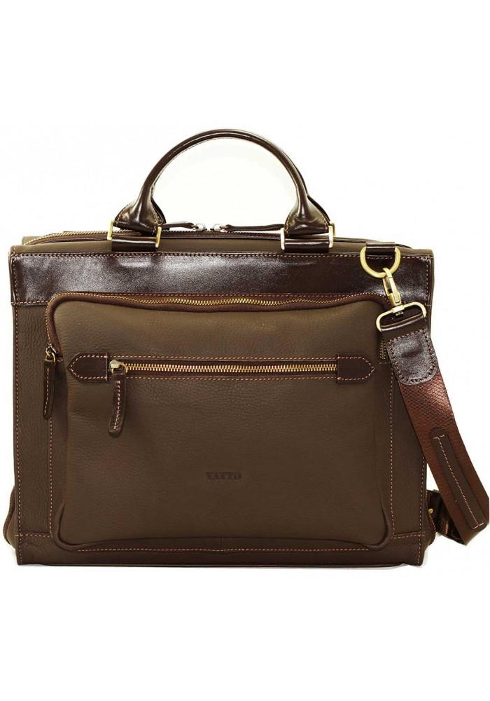 Мужская деловая сумка из кожи Vatto коричневая