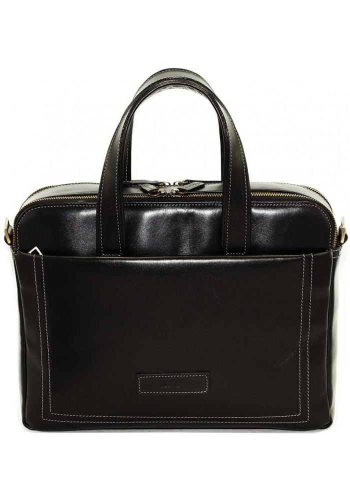 Мужская деловая сумка формата А4 Vatto черная гладкая