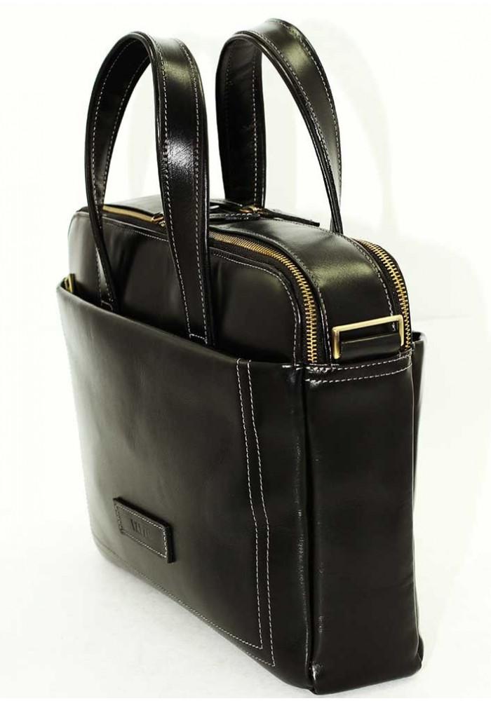 1067a73c50f2 ... Мужская деловая сумка формата А4 Vatto черная гладкая, фото №2 - интернет  магазин stunner ...