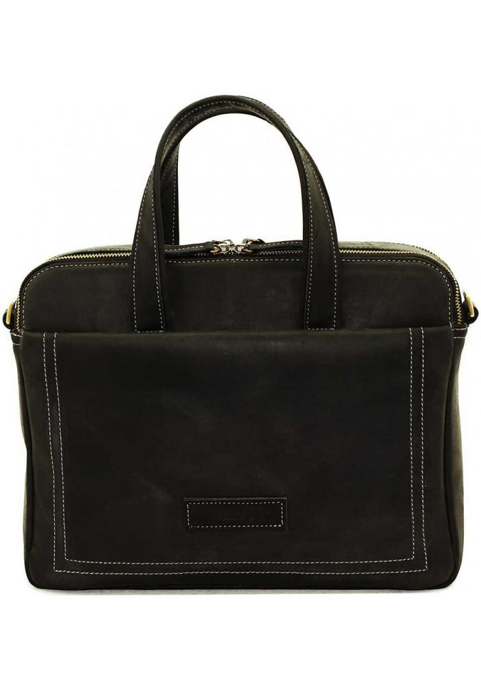 Мужская деловая сумка формата А4 Vatto черная матовая