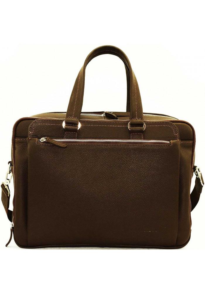 Фирменная мужская сумка с удлиненными ручками Vatto коричневая