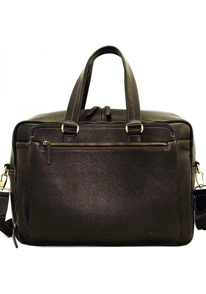 Фирменная мужская сумка с удлиненными ручками Vatto черная
