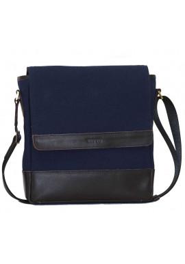 Фото Мужская сумка брендовая из ткани Vatto синяя