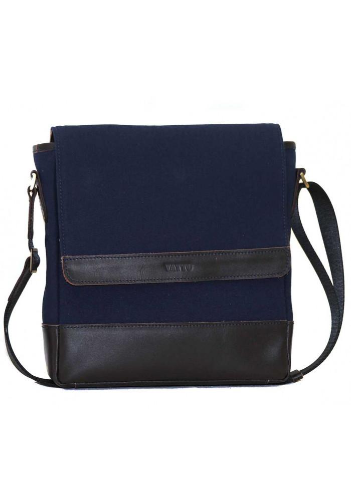 Мужская сумка брендовая из ткани Vatto синяя