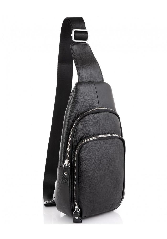 Фото Кожаный черный слинг через плечо Tiding Bag A25F-5058A