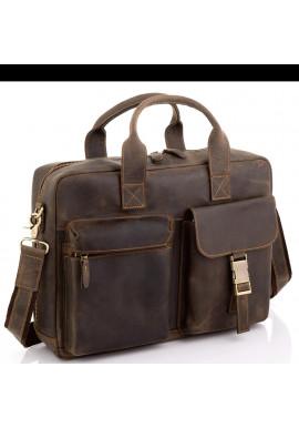 Фото Винтажная кожаная сумка для ноутбука Tiding Bag D4-058R
