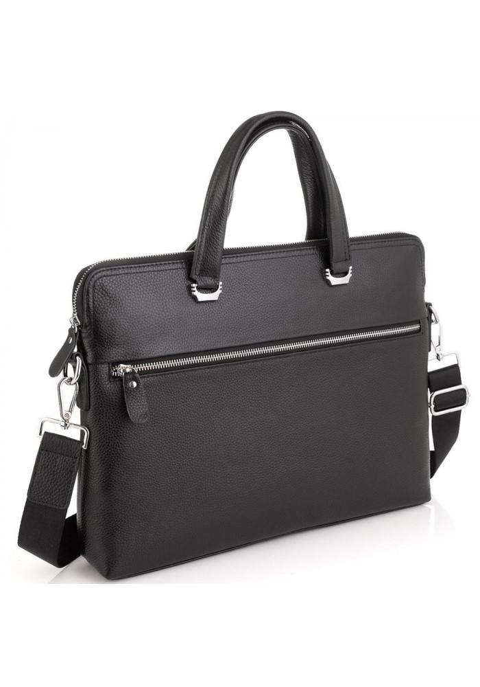 Фото Сумка для ноутбука черная кожаная Tiding Bag A25F-9157-1A