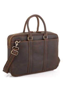 Фото Винтажная коричневая сумка для ноутбука Tiding Bag D4-023R