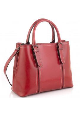 Фото Женская кожаная сумка бордовая Grays GR3-8501R