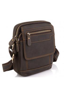 Фото Мужская кожаная сумка коричневая Tiding Bag t2101