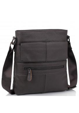 Фото Мессенджер коричневый мужской Tiding Bag M38-7812C