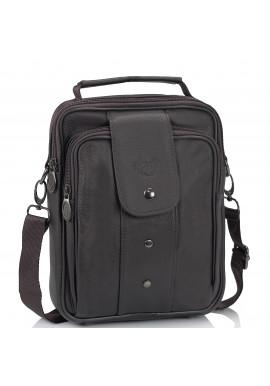 Фото Мужская кожаная сумка-барсетка коричневая HD Leather NM24-216C