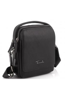 Фото Кожаная сумка через плечо в черном цвете Tavinchi TV-009A