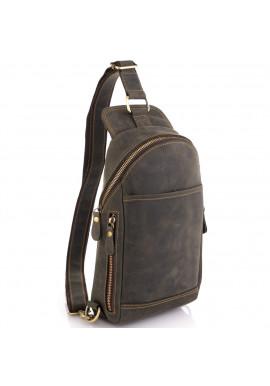 Фото Сумка-слинг в винтажном стиле коричневая Tiding Bag t2104