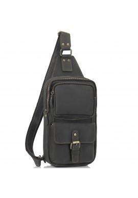 Фото Мужская сумка-слинг коричневого цвета Tiding Bag t2105