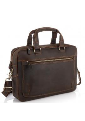 Фото Винтажная сумка для ноутбука коричневая Tiding Bag D4-005R
