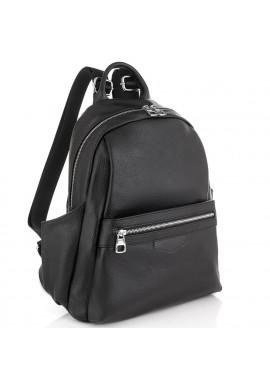 Фото Женский черный кожаный рюкзак Olivia Leather NWBP27-007A