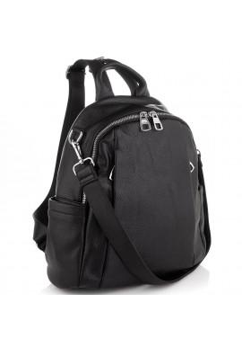 Фото Женский черный кожаный рюкзак Olivia Leather NWBP27-002A