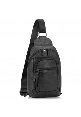 Фото Мужская сумка-слинг черная Tiding Bag M35-1008A
