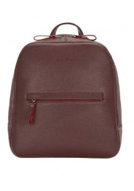 Фото Женский кожаный рюкзак Issa Hara коричневый