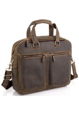 Фото Винтажная сумка для ноутбука коричневая Tiding Bag D4-001G