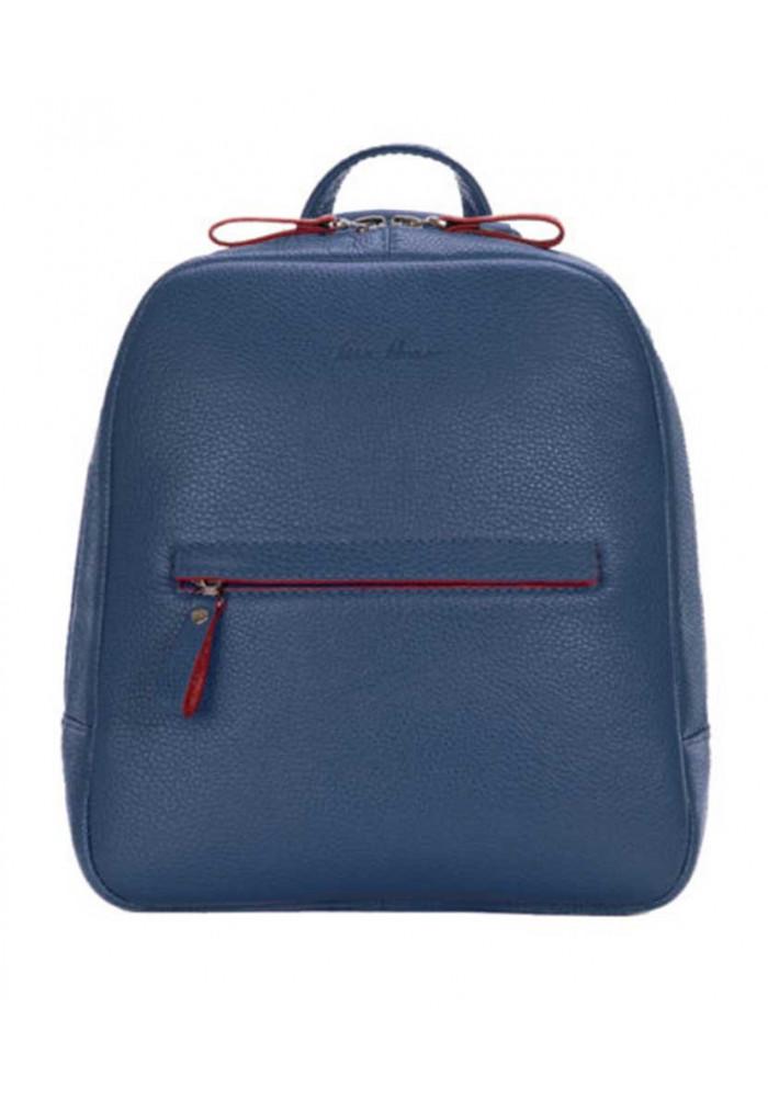 Женский кожаный рюкзак ISSA HARA синий