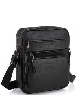Фото Мужская кожаная сумка через плечо черная Tiding Bag SM8-909A