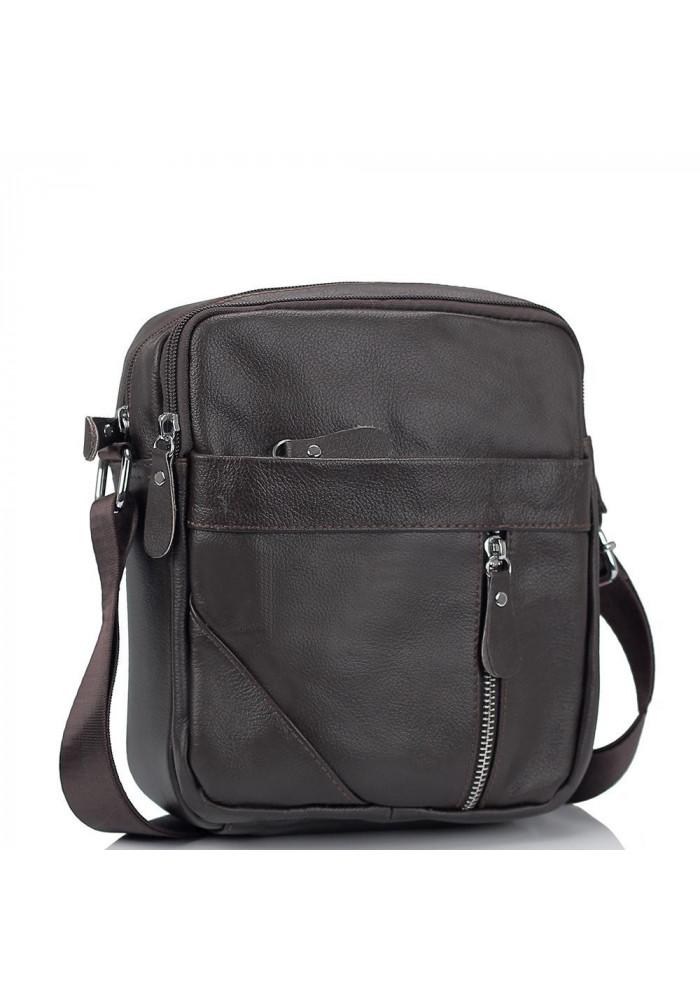 Фото Мужская коричневая сумка через плечо Tiding Bag M38-1031C