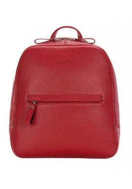 Фото Женский кожаный рюкзак ISSA HARA красный