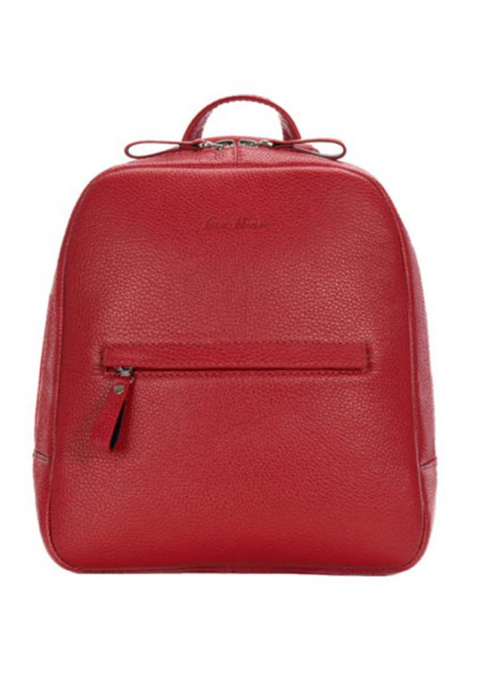 Женский кожаный рюкзак ISSA HARA красный