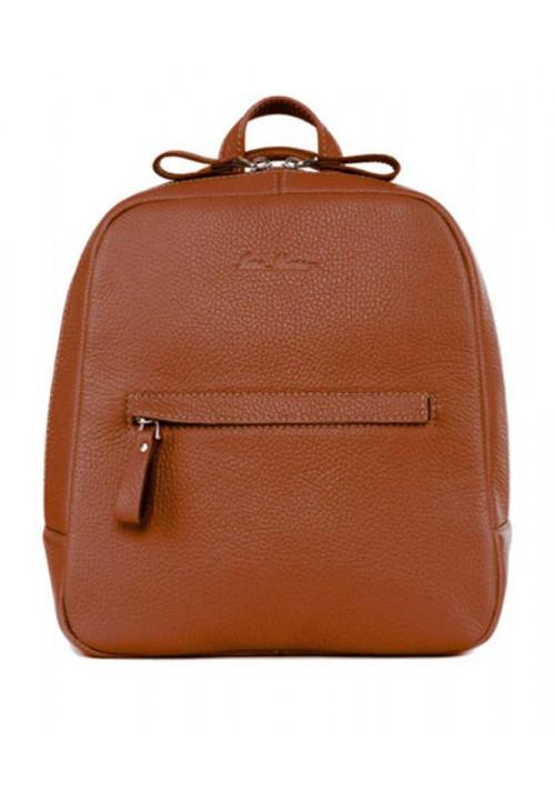 Женский кожаный рюкзак ISSA HARA рыжий
