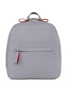 Фото Женский кожаный рюкзак ISSA HARA серый