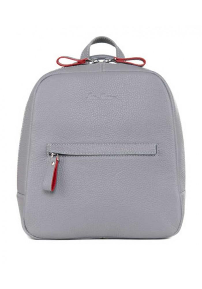 Женский кожаный рюкзак ISSA HARA серый