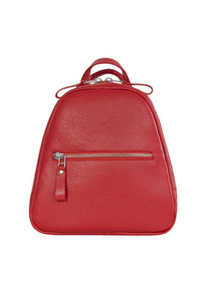 Небольшой женский кожаный рюкзак ISSA HARA красный